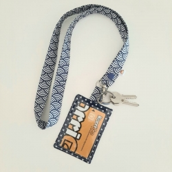 Porte-clé collier + badge/carte