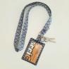 Porte-clé collier + badge/carte