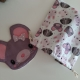 Lot de débarbouillettes / Lot rose-gris